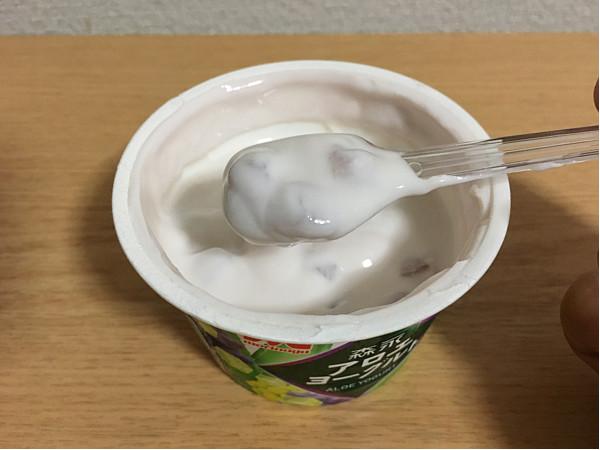 森永アロエヨーグルトぶどうづくし←食べてみましたが...5