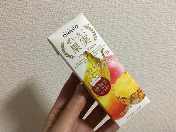 ぜいたく果実のむヨーグルト(完熟王バナナ)フルーツミックス飲んでみました
