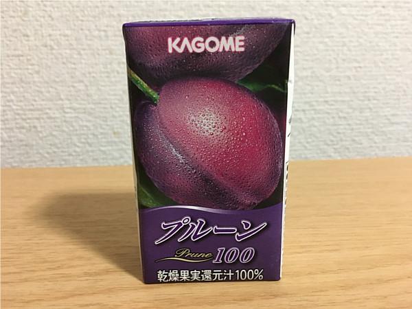 カゴメ「プルーン100」←ドライフルーツそのままの濃さと美味しさ!3