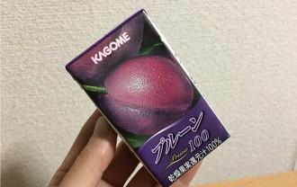 カゴメ「プルーン100」←ドライフルーツそのままの濃さと美味しさ!