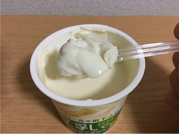 ポッカサッポロ「豆乳で作ったヨーグルト(アロエ)」の生地感